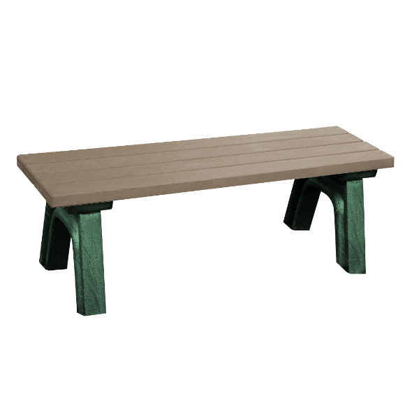 Deluxe Recycled Plastic Flat Bench