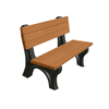 Deluxe Recycled Plastic Bench with Back,