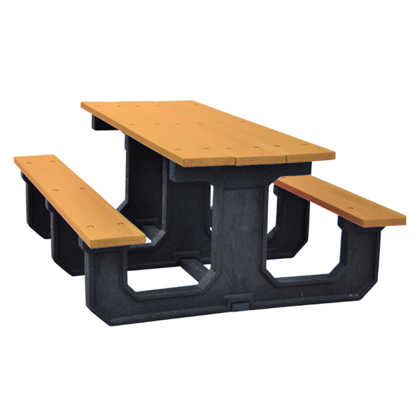 Rectangular Recycled plastic Picnic Table