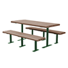8 Ft. Recycled Plastic Picnic Table with Steel Frame, 658 lbs.