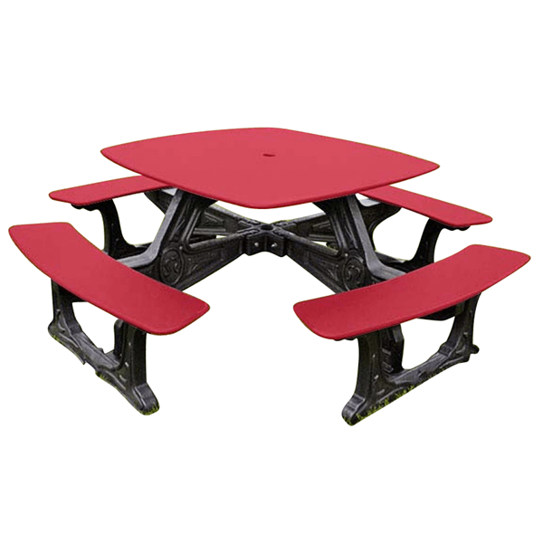 "46"" Square Recycled Plastic Bistro Picnic Table, 200 lbs."