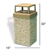 9 Gallon Concrete Trash Receptacle with 4 Way Open Top, 205 Lbs.