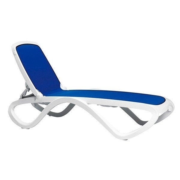 Omega Commercial Plastic Resin Sling Chaise Lounge