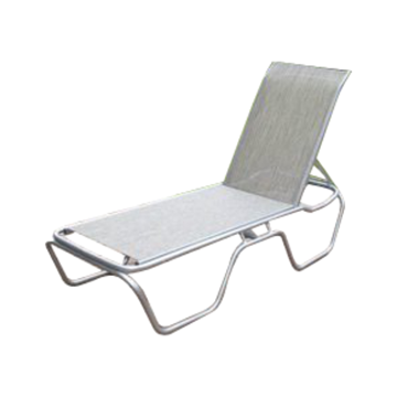 Daytona Commercial Sling Chaise Lounge with Powder-Coated Aluminum Frame