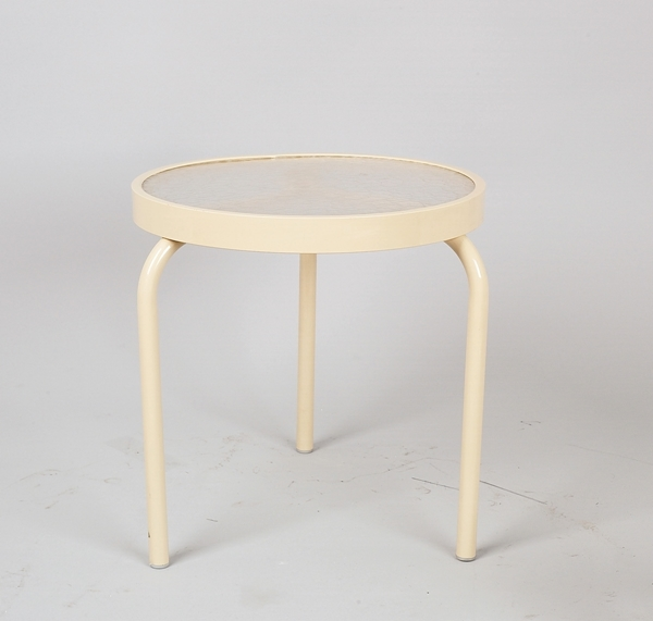 "19"" Round Acrylic Stackable Side Table"