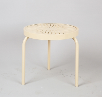 "19"" Round Aluminum Stackable Side Table"