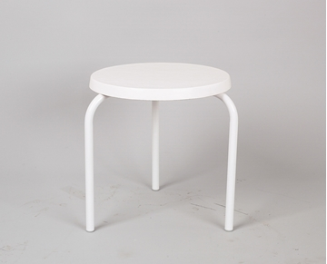 "19"" Round Fiberglass Stackable Side Table"
