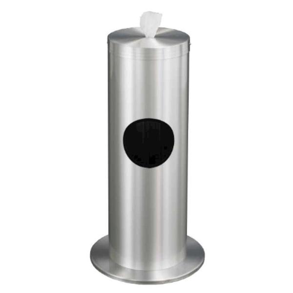 Floor Standing Hand Wipe Dispenser with Trash Receptacle