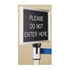 Extenda Barrier 7 ft Retractable Strap Queuing System - Flat Base