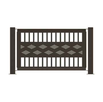 "Heavy-Duty Fencing Panel 55"" x 32"" Powder-Coated Steel - 45 lbs."