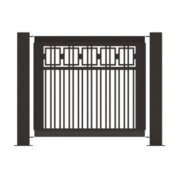 "Heavy-Duty Fencing Panel 25.5"" x 32"" Powder-Coated Steel - 22 lbs."