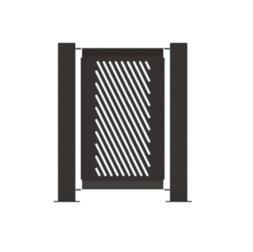 "Heavy-Duty Fencing Panel 14.5"" x 32"" Powder-Coated Steel - 15 lbs."