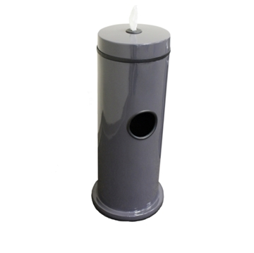 Hand Wipe Dispenser with 7-Gallon Fiberglass Trash Receptacle