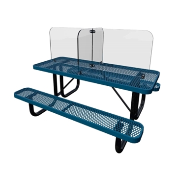 Lexan Outdoor Safety Shield for 6 ft. Thermoplastic Picnic Tables