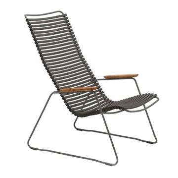 Ledge Lounger Playnk Lounge Chair with Resin Slats and Bamboo Armrests - 24 lbs.