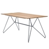 """Ledge Lounger Bamboo Playnk Dining Table Rectangular - 63"""" or 87"""""""