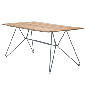 "Ledge Lounger Bamboo Playnk Dining Table Rectangular - 63"" or 87"""