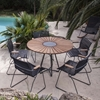 """Ledge Lounger Bamboo Playnk Dining Table Round - 43"""" or 59"""""""