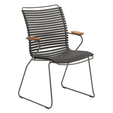 Ledge Lounger Playnk Dining Chair with Resin Slats and Powder-Coated Steel Frame - 16 lbs.