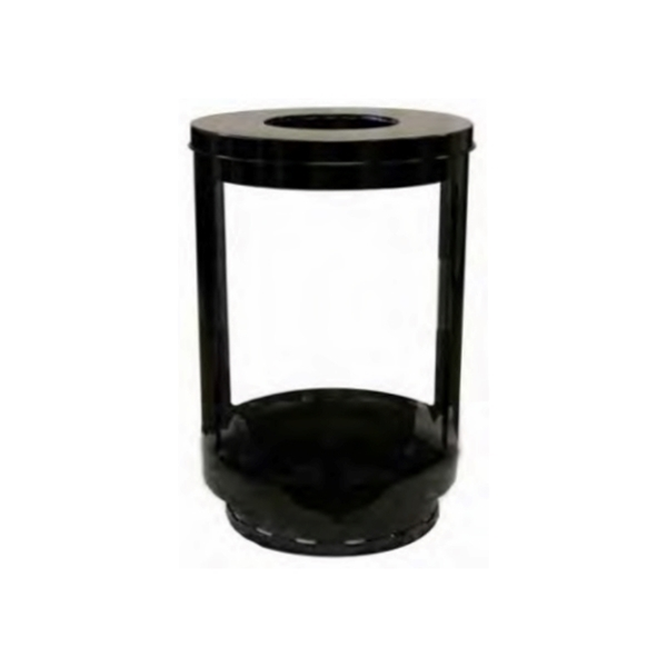 Lookout Trash Receptacle 55-Gallon with Transparent Panels - 90 lbs.