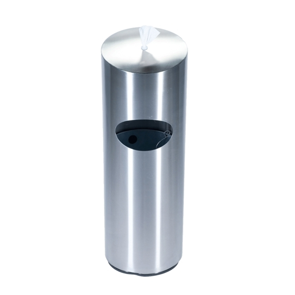 10-Gallon Trash Receptacle Precision Series with Sanitizing Wipes Dispenser - 47 lbs.