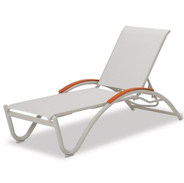 Helios Contract Sling Chaise Lounge with Commercial Aluminum Frame - 21 lbs.