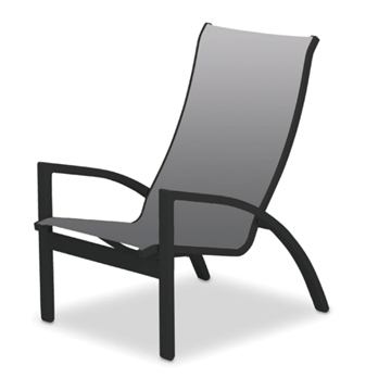 Kendall Sling Stacking Chat Height Chair with Commercial Aluminum Frame - 12 lbs.