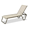 Reliance Contract Vinyl Strap Stacking Chaise Lounge with Commercial Aluminum - 20 lbs.