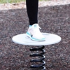 Balance Board Park Equipment with Steel Spring Base and Slip-Resistant Surface - 44 lbs.
