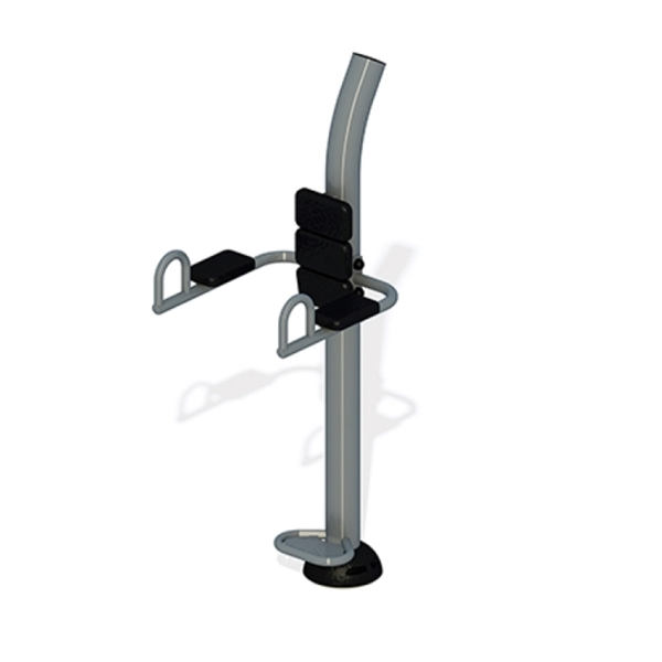 Captain's Chair Leg Raise Station for Public Parks Powder-Coated Commercial Steel - 122 lbs.