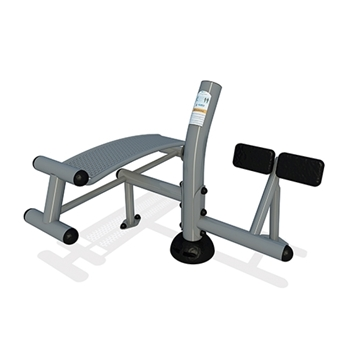 Sit Up Back Extension Combo Station for Public Park with Powder-Coated Steel - 138 lbs.