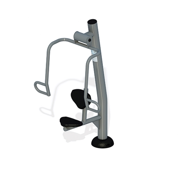 Chest Press Station with Powder-Coated Steel Frame for Public Parks - 132 lbs.