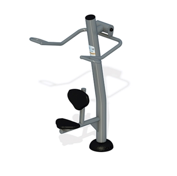 Lat Pull Down Station for Public Parks with Powder-Coated Commercial Steel - 130 lbs.
