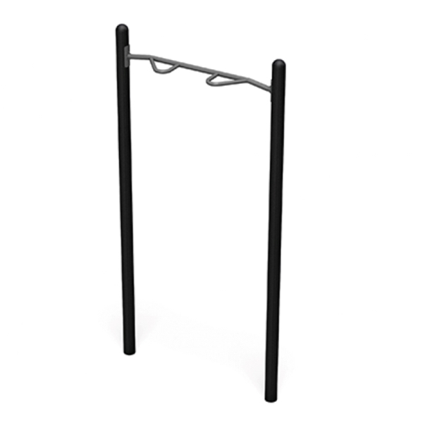 Chin-Up Station with Powder-Coated Commercial-Grade Steel Frame for Public Parks - 164 lbs.