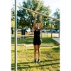 High Jump Bar for Public Parks with Powder-Coated Steel Frame and In-Ground Mount - 118 lbs.
