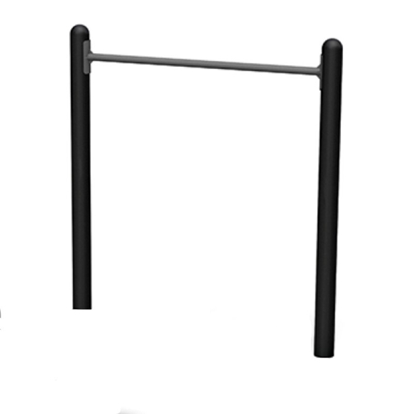 Horizontal Chin Up Station Powder-Coated Steel Frame for Public Parks - 193 lbs.