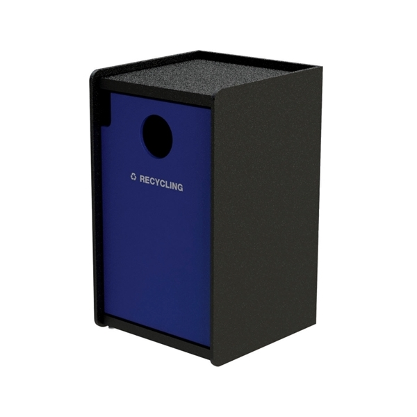 32-Gallon Side-Opening EarthCraft Plastic Recycling Receptacle - 91 lbs.