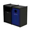 Dual 32-Gallon Recycling and Trash Receptacle EarthCraft Series - 168 lbs.