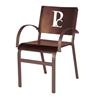 Aurora Dining Chair Outdoor Restaurant Hexagonal Aluminum Frame - 9 lbs.