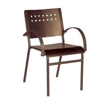 Avalon Dining Chair Outdoor Restaurant Tubular Aluminum Frame - 9 lbs.