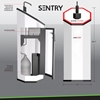 Sani Stop Hand Sanitizing Station Sentry with Trash and Hand Wipes - Picnic Furniture