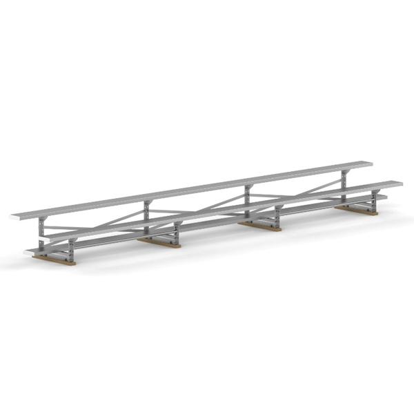 2 Row 21 ft. Tip & Roll Aluminum Bleacher - 240 lbs.