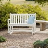 Polywood Traditional 48 In. Glider Bench Recycled Plastic