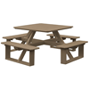 """44"""" Square Poly Recycled Plastic Walk-In Picnic Table"""