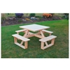 "44"" Wooden Square Walk-In Picnic Table - 170 lbs."