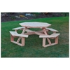 "54"" Wooden Octagonal Walk-In Picnic Table - 240 lbs."