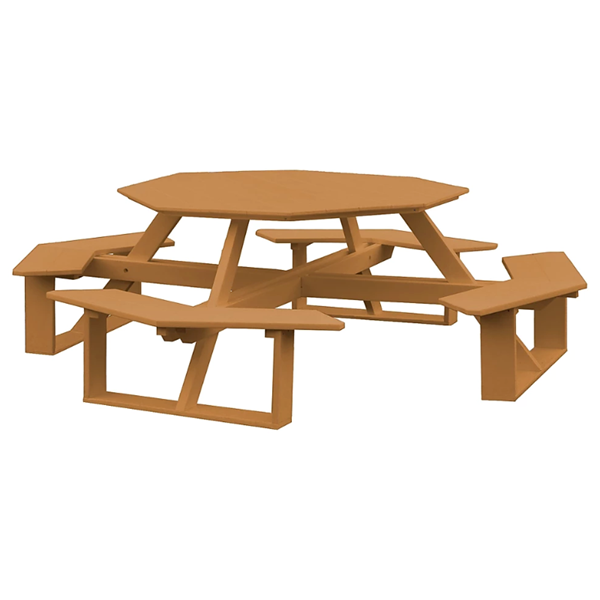 """54"""" Octagonal Poly Recycled Plastic Walk-In Picnic Table - 230 lbs."""