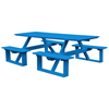 8 ft. Rectangular Poly Recycled Plastic Walk-In Picnic Table - 320 lbs.