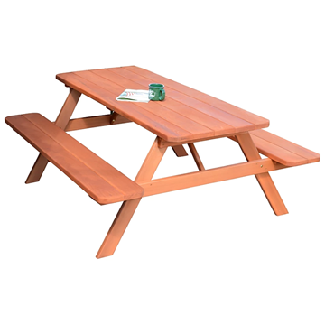 8 ft. Wooden Traditional Picnic Table - 235 lbs.