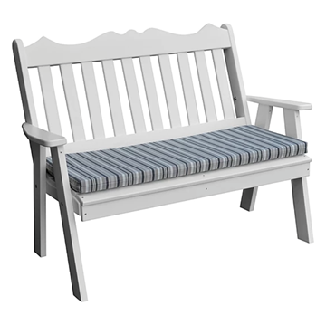 Royal English Garden Bench Recycled Plastic - 4 ft. or 5 ft.